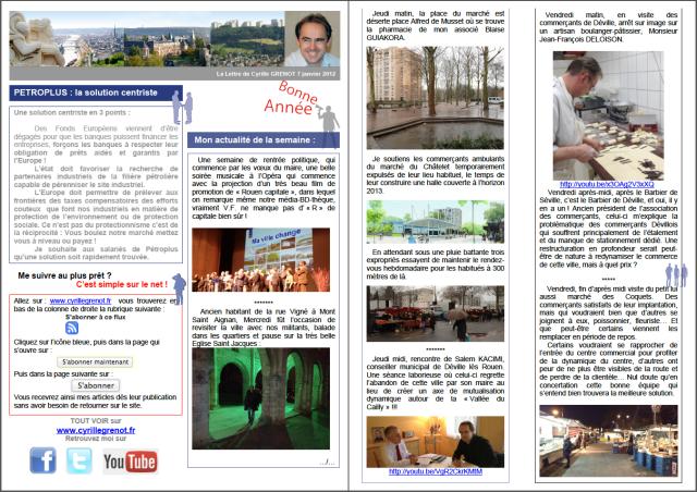newsletter janvier 2012 n°1